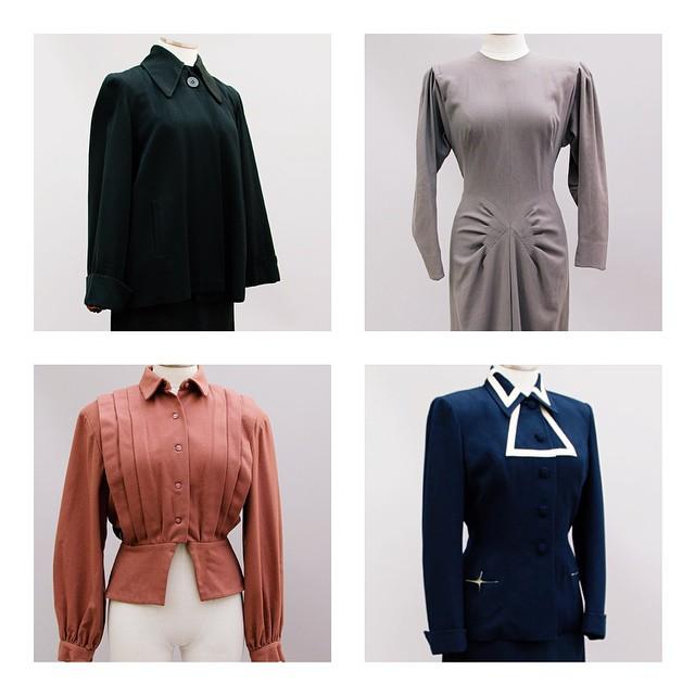 Lots of shoulder pads and drama, just listed. // #1940s #dorothyohara #lilliann // TastefulShop.etsy.com