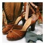 1940s tooled leather Mexican heels with ankle strap mustsavefortikoasis resist