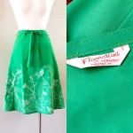 Just in for spring: #1970s green wrap skirt. // #putabirdonit…