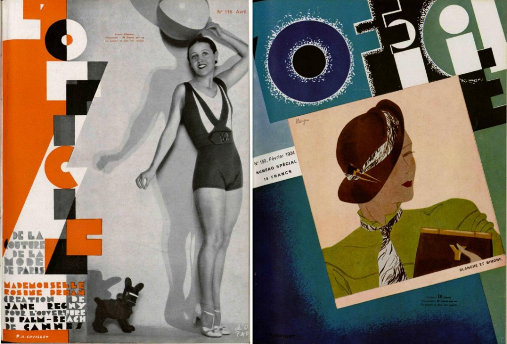 L'Officiel, April 1931 on the left; February 1934 on the right