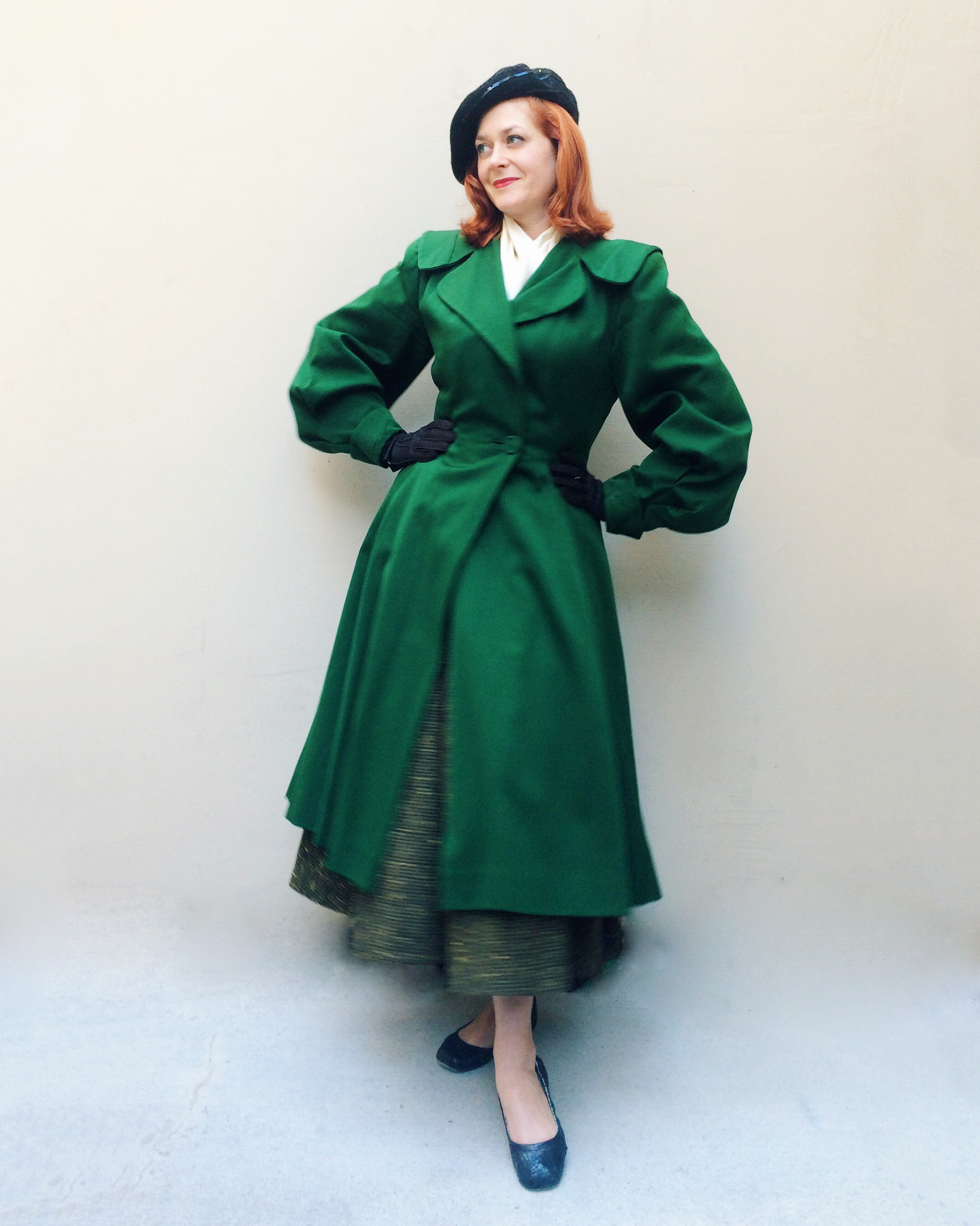 1940s Lilli Ann princess coat