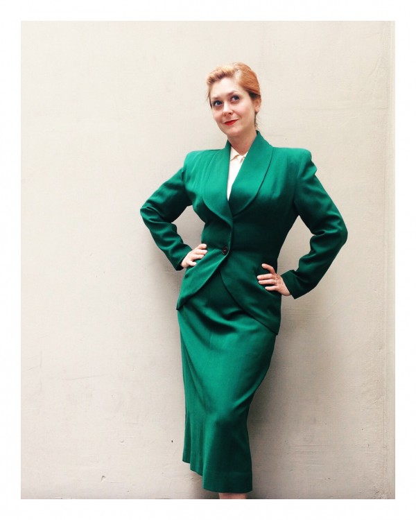 green lilli ann suit ca 1948-49