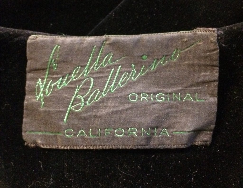 Late 30s / early 40s Louella Ballerino label