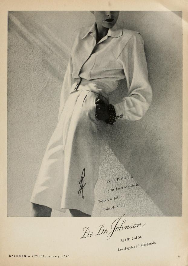 Pedal pusher suit, 1946